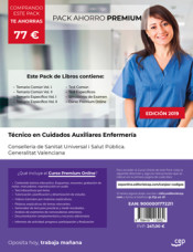 PACK AHORRO PREMIUM. Técnico/a en Cuidados Auxiliares de Enfermería. Conselleria de Sanitat Universal i Salut Pública. Generalitat Valenciana de Ed. CEP