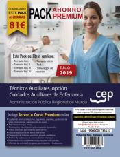 PACK AHORRO PREMIUM. Técnicos Auxiliares, opción Cuidados Auxiliares de Enfermería de la Administración Pública Regional de Murcia de Ed. CEP