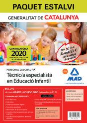 Paquet Estalvi Personal Laboral Fix de Tècnic/a Especialista en Educació Infantil del Departament d`Educació de Ed. MAD