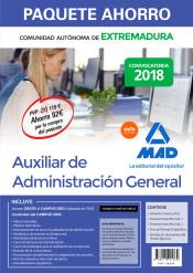 Paquete Ahorro Auxiliar de Administración General de Extremadura de Ed. MAD