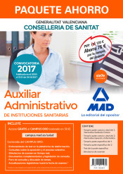 Paquete Ahorro Auxiliar Administrativo de Instituciones Sanitarias de la Conselleria de Sanitat de la Generalitat Valenciana de Ed. MAD