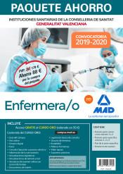 Paquete Ahorro Enfermero/a de Instituciones Sanitarias de la Conselleria de Sanitat de la Generalitat Valenciana de Ed. MAD