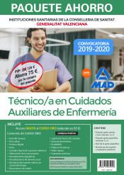 Paquete Ahorro Técnico/a en Cuidados Auxiliares de Enfermería de Instituciones Sanitarias de la Conselleria de Sanitat de la Generalitat Valenciana de Ed. MAD