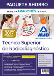 Paquete Ahorro Técnico Superior de Radiodiagnóstico del Servicio Aragonés de Salud. Ahorra 96 (incluye Temario común; Temarios específicos volúmenes 1, 2 y 3; Test y acceso Campus Oro)