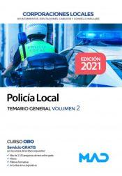 Policía Local. Temario General Volumen 2 de Ed. MAD