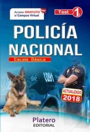 POLICÍA NACIONAL. ESCALA BÁSICA. TEST. VOLUMEN I
