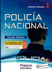 Policía Nacional Escala Básica. Vol. 2, Temario