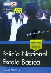 Policía Nacional Escala Básica. Vol. II, Temario