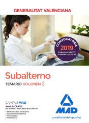 Subalterno de la Generalitat Valenciana. Temario volumen 2 de Ed. MAD