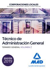 Técnico de Administración General de Corporaciones Locales. Temario General Volumen 2 de Ed. MAD