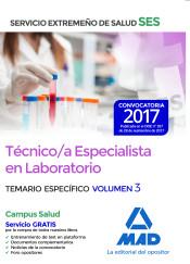 Técnico/a Especialista en Laboratorio del Servicio Extremeño de Salud (SES). Temario Específico volumen 3