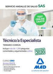 Técnico/a Especialista del Servicio Andaluz de Salud (SAS). Temario Común de Ed. MAD