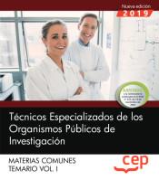 Técnicos Especializados de los Organismos Públicos de Investigación - EDITORIAL CEP