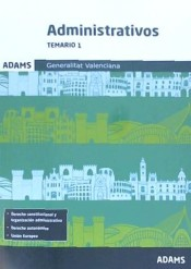 Temario 1 Administrativos de la Generalitat Valenciana de Ed. Adams