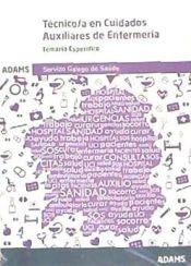 Auxiliar de Enfermería Servizo Galego de Saúde (SERGAS) - Ed. Adams